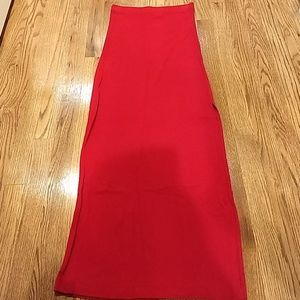 Forever 21 Red Maxi skirt with side slit
